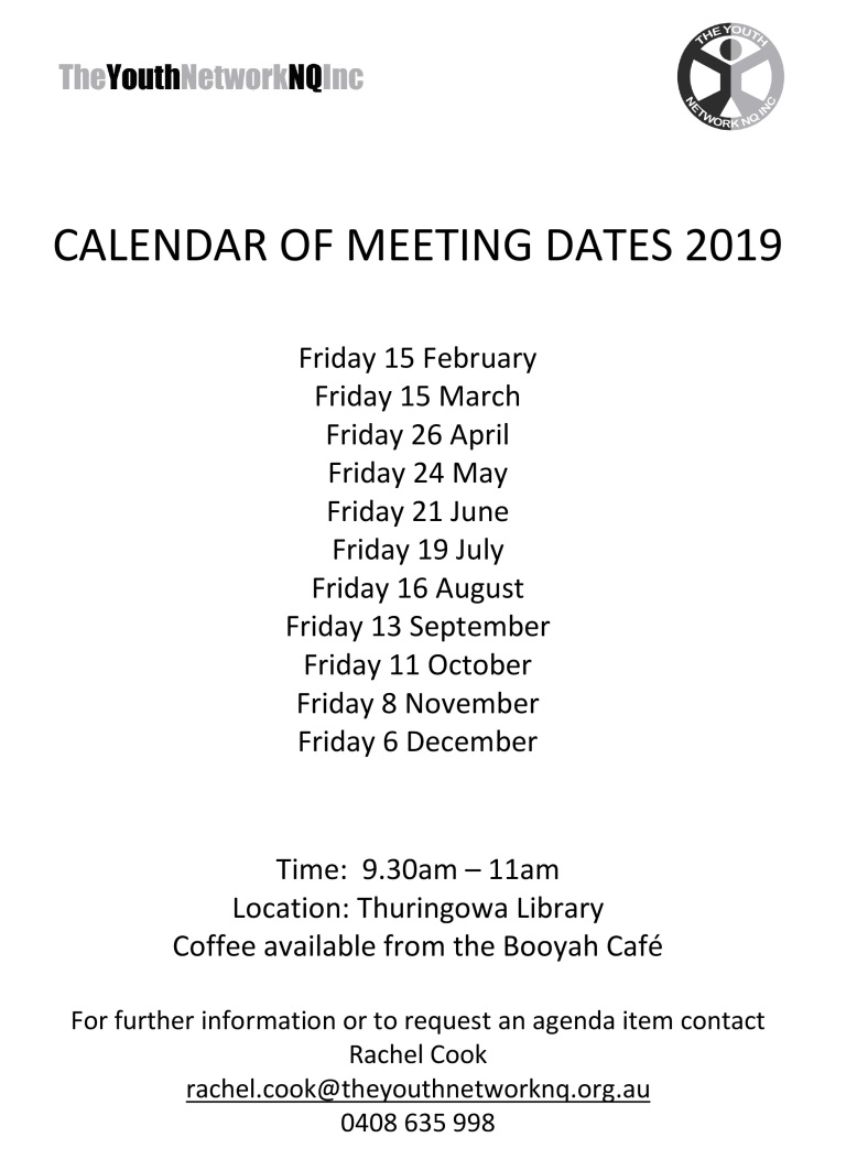 Microsoft Word - 2019 TYN Calendar of Meeting Dates.docx